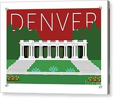 Denver Cheesman Park/maroon Acrylic Print