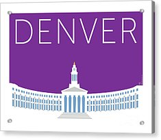 Denver City And County Bldg/purple Acrylic Print