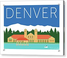 Denver City Park/blue Acrylic Print