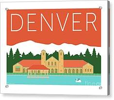 Denver City Park/coral Acrylic Print