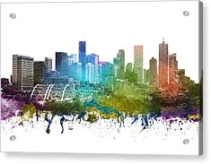 Denver Cityscape 01 Acrylic Print by Aged Pixel
