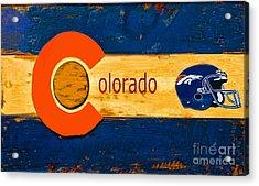 Denver Colorado Broncos 1 Acrylic Print