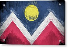 Acrylic Print featuring the digital art Denver Colorado City Flag by JC Findley