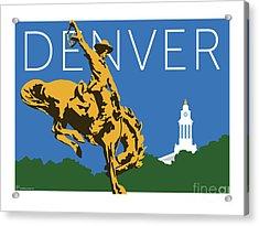 Denver Cowboy/dark Blue Acrylic Print