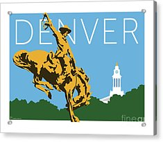 Denver Cowboy/sky Blue Acrylic Print