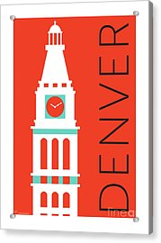 Denver D And F Tower/orange Acrylic Print