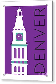 Denver D And F Tower/purple Acrylic Print