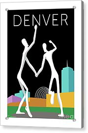 Denver Dancers/black Acrylic Print