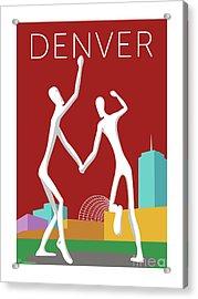 Denver Dancers/maroon Acrylic Print