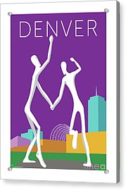 Denver Dancers/purple Acrylic Print