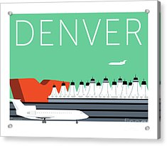 Denver Dia/aqua Acrylic Print