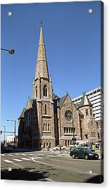 Denver Downtown Church Acrylic Print by Frank Romeo