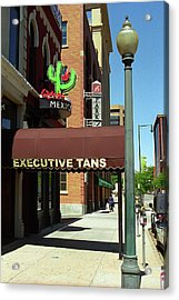 Acrylic Print featuring the photograph Denver Downtown Storefront by Frank Romeo
