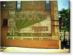 Acrylic Print featuring the photograph Denver Ghost Mural by Frank Romeo