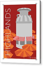 Denver Highlands/maroon Acrylic Print