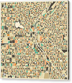Denver Map Acrylic Print