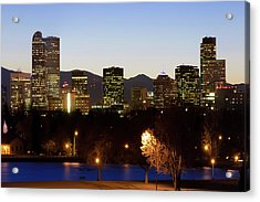 Acrylic Print featuring the photograph Denver Skyline - Colorful Colorado by Gregory Ballos
