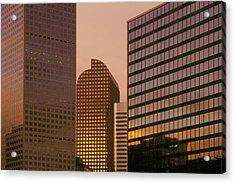 Denver Skyline Of Glass Acrylic Print by Steve Mohlenkamp