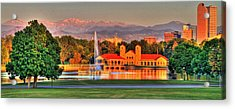 Denver Skyline Acrylic Print by Scott Mahon