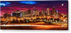 Denver Skyline Sunrise Acrylic Print