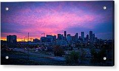 Denver Sunrise At Speer Acrylic Print