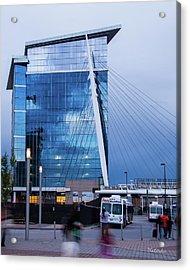 Denver Union Station And Milennium Bridge Acrylic Print