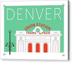 Denver Union Station/aqua Acrylic Print