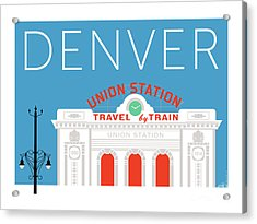 Denver Union Station/blue Acrylic Print