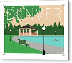 Denver Washington Park/beige Acrylic Print
