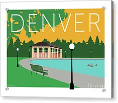 Denver Washington Park/gold Acrylic Print