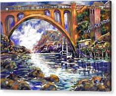 Depoe Bay Bridge Acrylic Print