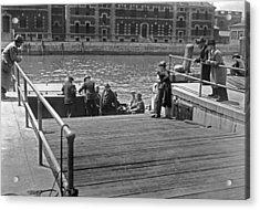 Deportees Leaving Ellis Island Acrylic Print by Underwood Archives
