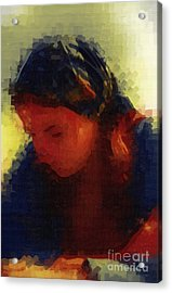 Depression And Grief Acrylic Print by Deborah MacQuarrie-Selib