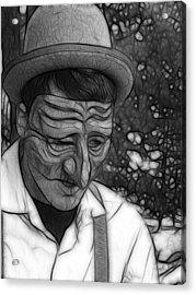 Depression Acrylic Print by Maria Dryfhout
