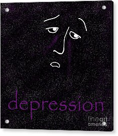 Depression Acrylic Print by Methune Hively