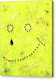Depression Series - #1 - Pained Smile Acrylic Print
