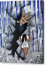 Acrylic Print featuring the painting Depression by Teresa Wing