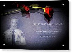 Deputy Kotfila Acrylic Print by Marvin Spates