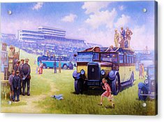 Derby Day Epsom Acrylic Print by Mike  Jeffries
