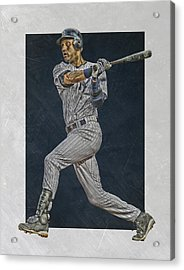 Derek Jeter New York Yankees Art 2 Acrylic Print