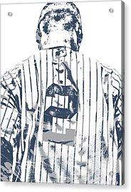Derek Jeter New York Yankees Pixel Art 11 Acrylic Print