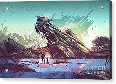 Derelict Ship Acrylic Print
