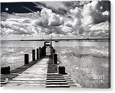 Derelict Wharf Acrylic Print by Avalon Fine Art Photography