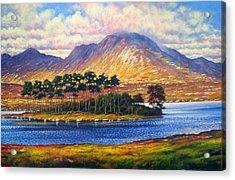 Derryclare,connemara,ireland Acrylic Print by Alan Kenny