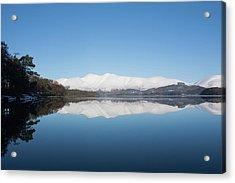 Derwentwater Winter Reflection Acrylic Print