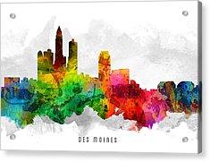 Des Moines Iowa Cityscape 12 Acrylic Print