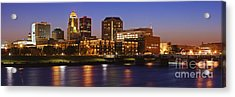 Des Moines Skyline Acrylic Print by Jeremy Woodhouse