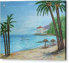 Descanso Beach, Catalina Acrylic Print