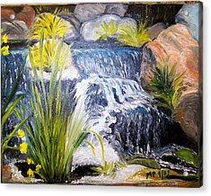 Descanso Waterfall Acrylic Print by Madeleine Prochazka