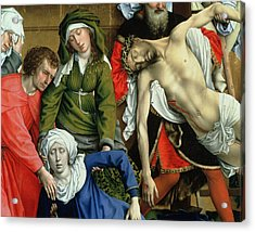 Descent From The Cross Acrylic Print by Rogier van der Weyden